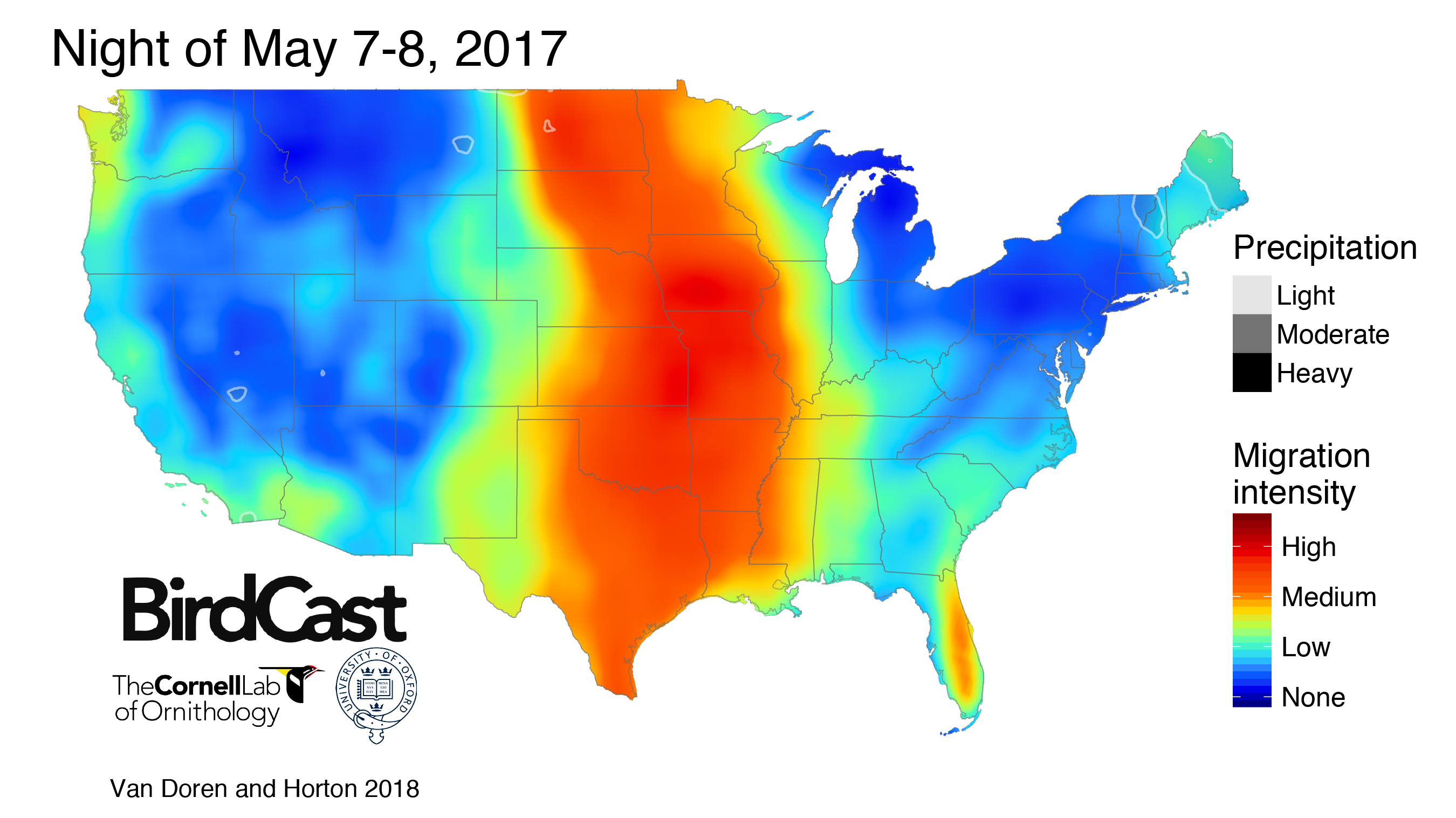 Us Bird Migration Map Not Just for the Weatherman: Maps Forecast Bird Migration Using